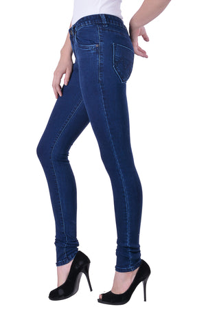 Hoffmen Slim Fit Women's Denimax Colour Silky Streatch Jeans MSGS8001