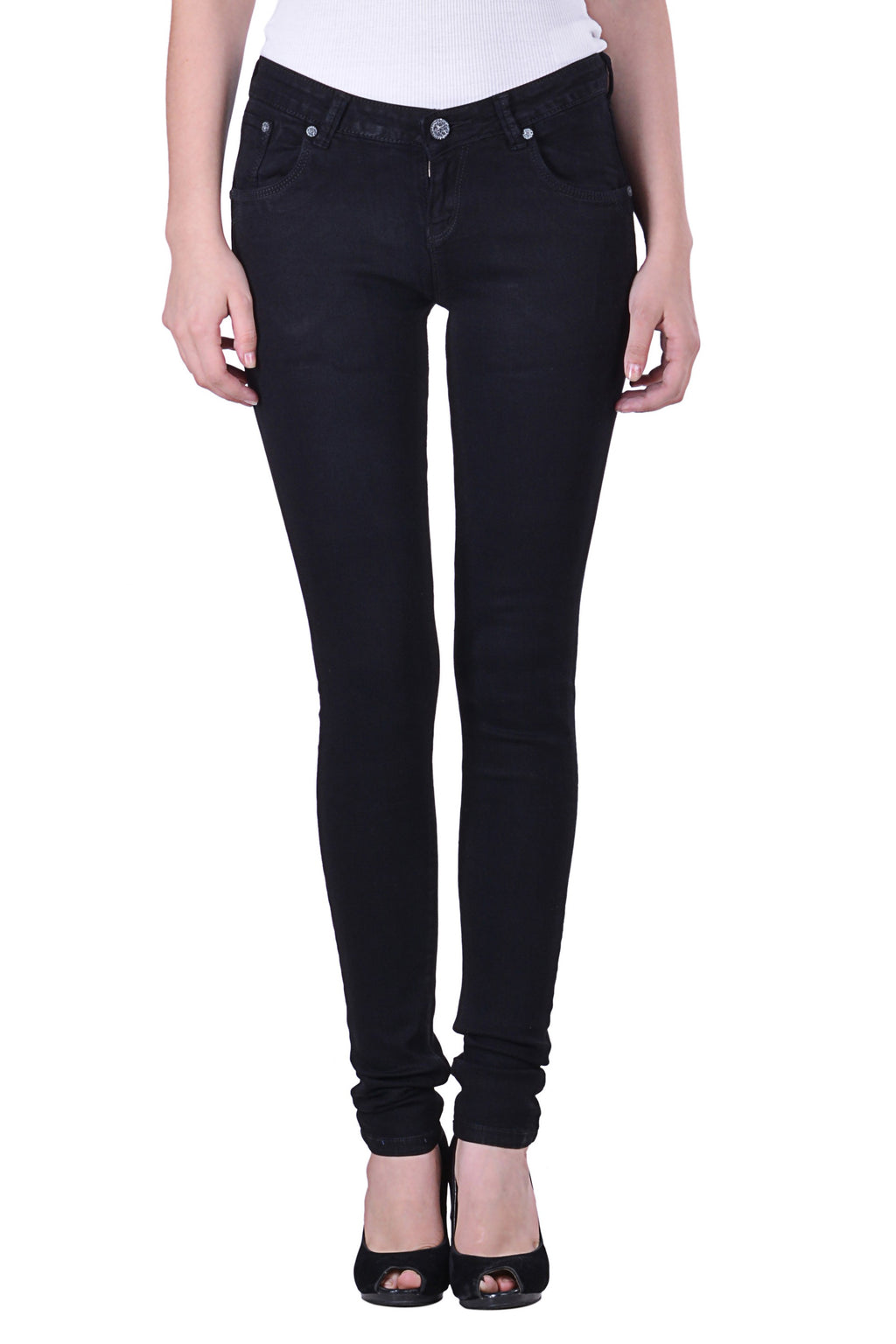 Hoffmen women Basic BLACK Denim MSGS8003