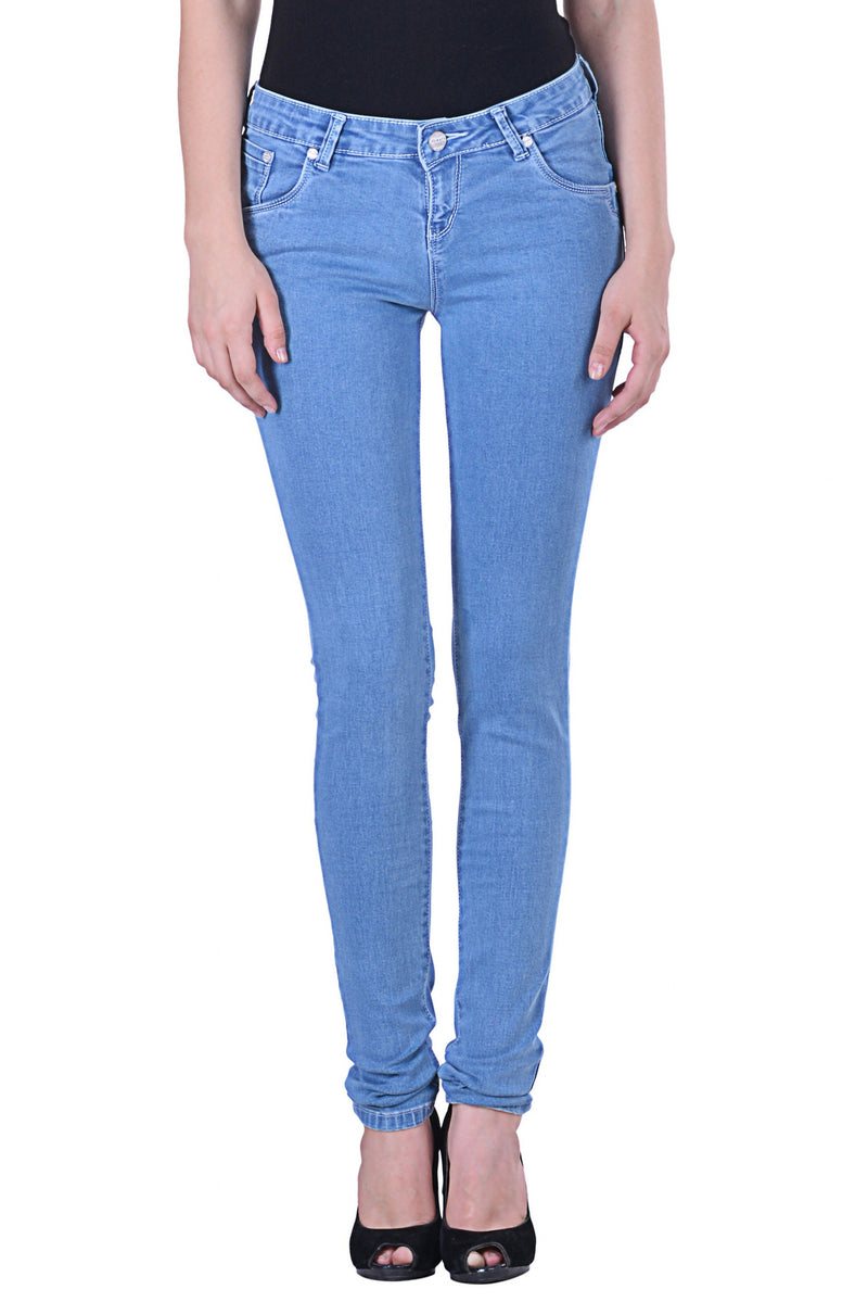 Hoffmen Slim Fit Women's Ice Wash Silky Stretch Jeans MSGS8005