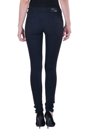 Hoffmen Women's Black Denim Jegging  MSJG4903