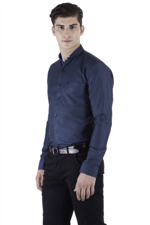 Hoffmen Men's Self Design Party Shirt PD3043