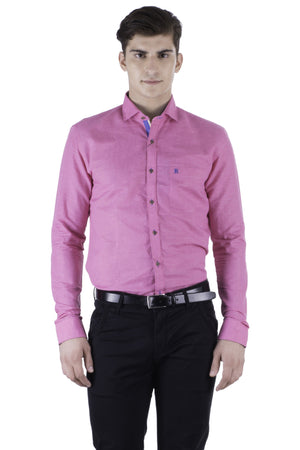 Hoffmen Men's Self Design Party Shirt PF7020