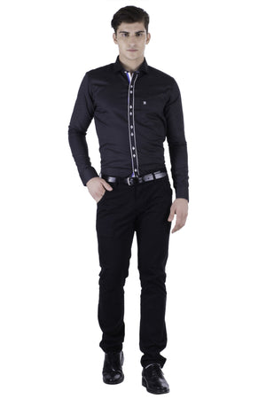 Hoffmen Men's Self Design Party Shirt PR6048