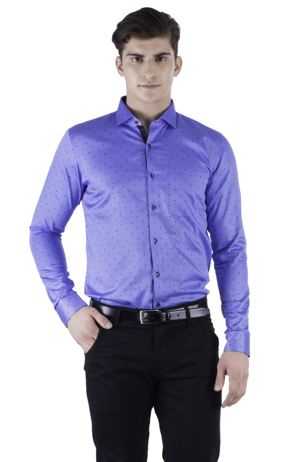 Hoffmen Men's Self Design Party Shirt PR6064