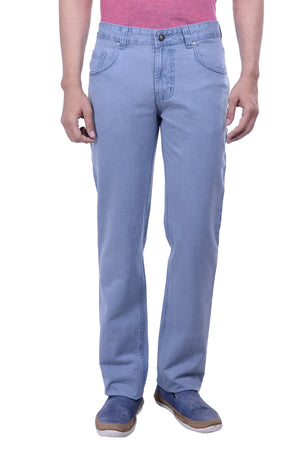 Hoffmen Regular Fit Light Grey Men's Jeans SDG2115