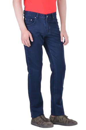 Hoffmen Men's Regular Fit  Cowboy Sapphire Blue Silky Jeans SDG2116