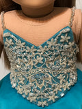 OOAK Pageant Dress Ball Gown for American Girl doll jade