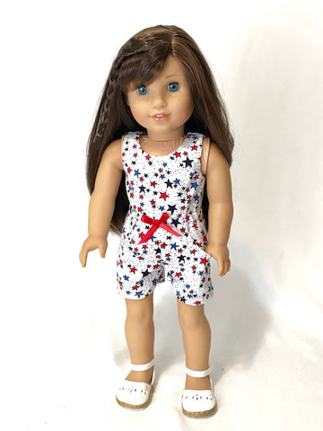 American girl 4th of July romper clothes