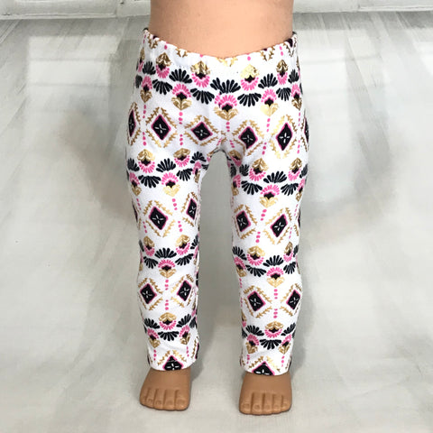 Trendy leggings printed fit American girl dolls