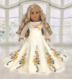 "Cinderella Movie Wedding Dress for American Girl and 18"" Dolls."