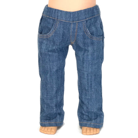 "Boot Cut Jeans for American girl and 18"" doll"