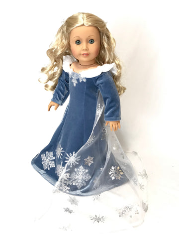 Snow Queen dress fit American Girl Doll