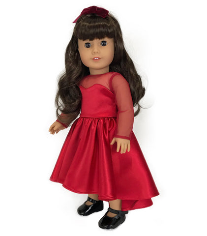 High-Low Red Dress for American Girl Doll