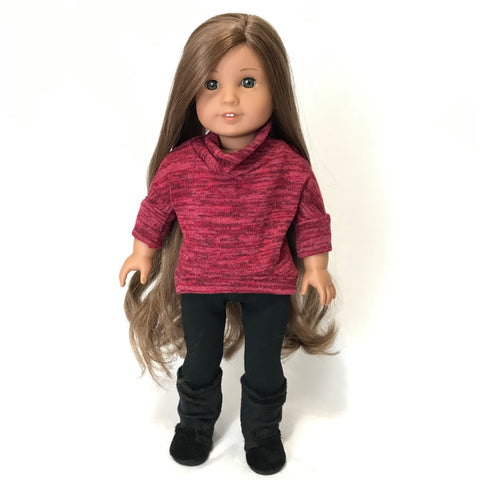 Red Pullover for American Girl Doll