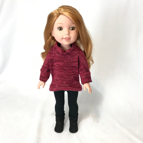 Red Pullover for Wellie Wishers Doll