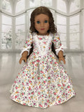 "Historical Dress for American Girl and 18"" Dolls Flowers."