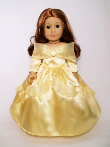 "Disney Princess Belle dress for American Girl doll and 18"" Dolls."