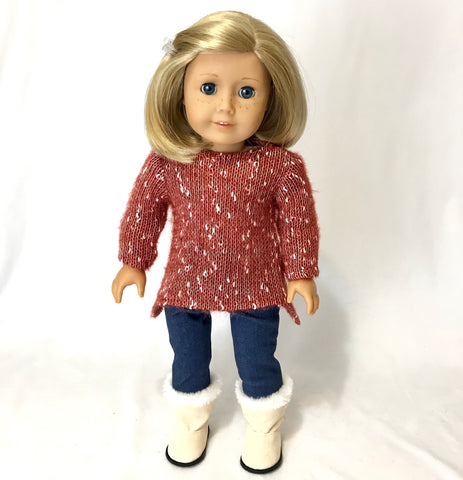 Red Sweater for American Girl Doll
