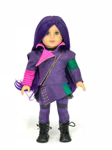Disney Descendants Mal outfit for American Girl Doll