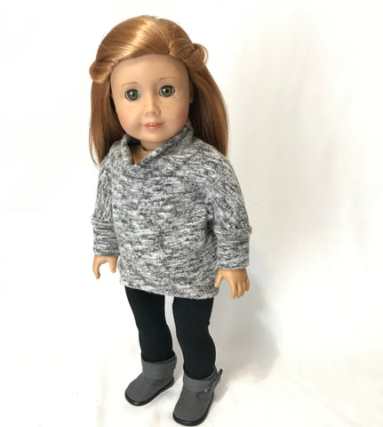 Grey Pullover for American Girl Doll