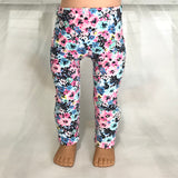 Trendy leggings flowers mint fit American girl dolls