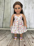 Halter high-low dress for American Girl Doll