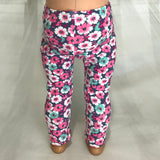 Trendy leggings flowers pink fit American girl dolls
