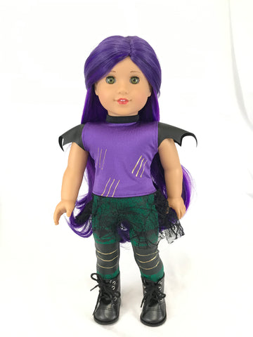 Disney Descendants 2 Mal outfit for American Girl Doll