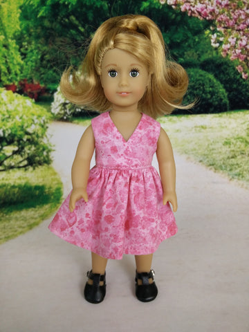 Wrap dress for American Girl mini dolls 03