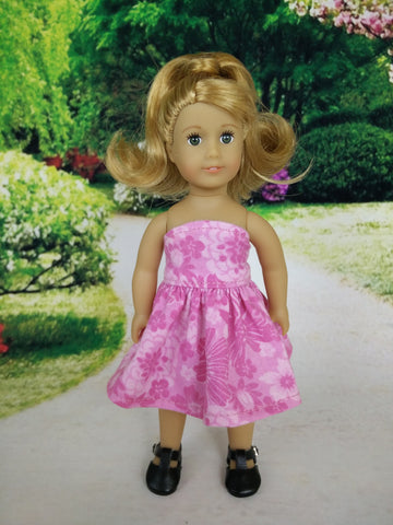 Strapless dress for American Girl mini dolls 04