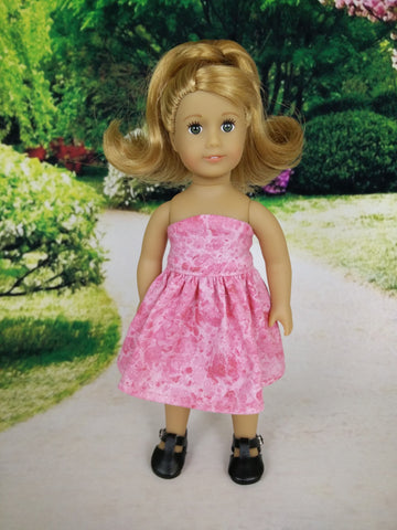 Strapless dress for American Girl mini dolls 05