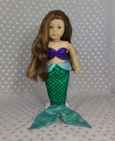 Little mermaid outfit for american girl doll  sc 1 st  American Girl Doll Clothes by Rocio & Disney Princess Ariel Little Mermaid outfit for American Girl Doll ...