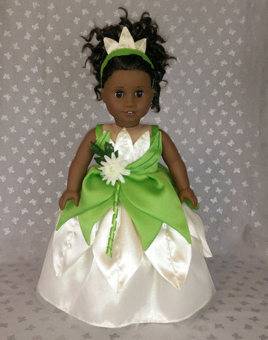 American girl  doll tiana princess f dress
