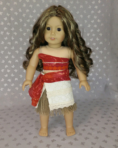 American girl doll princess moana outfit costume