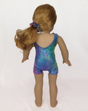 Tumbling Unitards Leopard Oil Dye for American Girl and 18inch Dolls