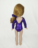Gymnastics Leotard Pink Purple for Wellie Wishers Dolls