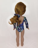 Gymnastics Leotard Leopad Print for Wellie Wishers Dolls