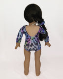 Gymnastics Leotard Leopard Print for American Girl and 18inch Dolls