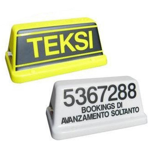 "10"" Mini Taxi Roof Sign - Taxi-Mart Shop"