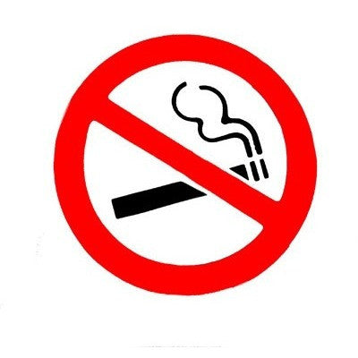 90mm - Large No Smoking Sticker - White Background - Taxi-Mart Shop