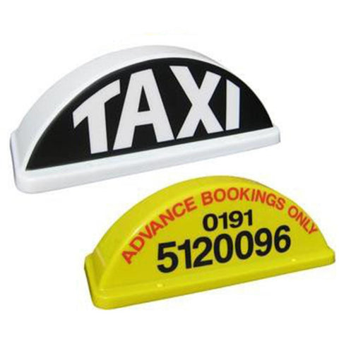 "18"" Round Taxi Roof Sign - Taxi-Mart Shop"