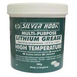 2 x Silverhook Lithium Grease EP2 High Temperature Grease 500g Tub - Taxi-Mart Shop