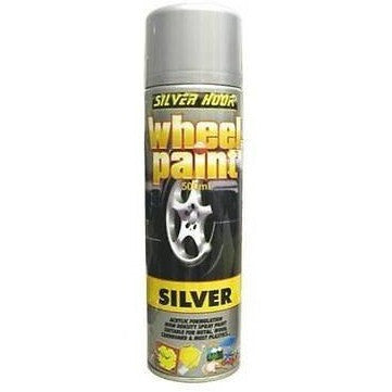 12 x Silverhook High Density Silver Wheel Paint 500ml - Taxi-Mart Shop