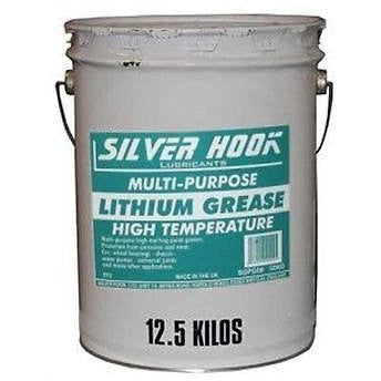 Silverhook Lithium Grease EP2 High Temperature 12.5kg Drum - Taxi-Mart Shop