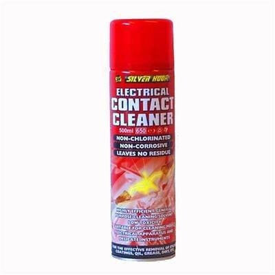 12 x Silverhook Electrical Contact Cleaner Spray 500ml - Aerosol Can With Applicator Tube - Taxi-Mart Shop
