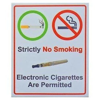 Strictly No Smoking But Electronic Cigarettes Are Permitted - Taxi-Mart Shop
