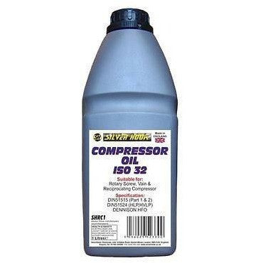 Silverhook SHRC1 ISO 32 Compressor Oil Also Use For Trolley Or Bottle Jacks 1 Litre - Taxi-Mart Shop