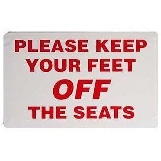 Please Keep Your Feet Off The Seats.... Taxi Sticker - Taxi-Mart Shop