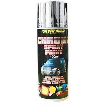 12 x Silverhook CHROME EFFECT Spray Paint - Acrylic Universal Spray Paint 400ml Cans - Taxi-Mart Shop