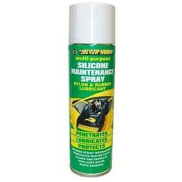 2 x Silverhook Nylon and Rubber Lubricant/Silicone Multi-Purpose Spray 500ml - Taxi-Mart Shop